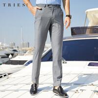才子商务休闲西裤男士2020夏季新款修身直筒薄款透气垂感正装长裤