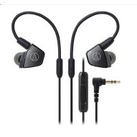 铁三角(Audio-technica)ATH-LS300iS LS300iS三单元手机带线控入耳式耳机 银色 搭配三层