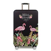 弹力箱套20拉杆箱套28行李箱旅行箱保护套寸加厚耐磨 花丛火烈鸟 XL码(加厚)-寸 是箱套,不