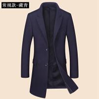 冬季男士羊毛呢大衣中长款青年修身毛呢风衣外套韩版加厚呢子大衣