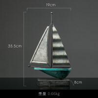 美式复古铁艺帆船摆件客厅酒柜电视柜装饰品创意家居一帆风顺摆设