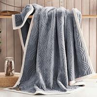 家纺抗静电加厚法莱绒毛毯保暖秋冬三层复合珊瑚绒盖毯单双人加绒床单