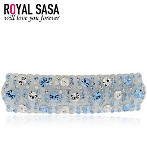 皇家莎莎Royalsasa韩版头饰横夹时尚发卡人造水晶发夹发饰-若水蓝梦