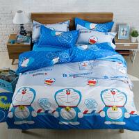家纺1.5/1.8床单双人床上用品四件套儿童被子套卡通宿舍1.2三件套