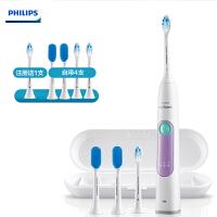 飞利浦(PHILIPS)电动牙刷HX6616/51(自带刷头*4+牙刷盒) 牙龈护理 成人充电式声波震动牙刷