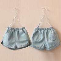 儿童牛仔短裤 夏装韩版女童童装爱心百搭短裤子