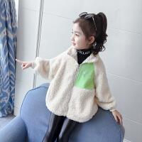 女童秋装毛毛衣外套新款秋冬冬装上衣童装
