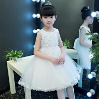 女童连衣裙夏装蕾丝2019新款白色儿童公主裙裙女宝宝裙子礼服