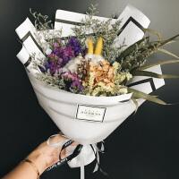 创意生日礼物干花礼盒结婚送女生闺蜜朋友女友老婆惊喜时尚浪漫礼品 如图【三色可选】 白色