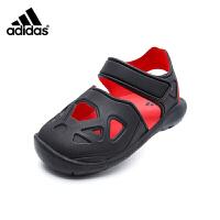 【4折价:119.6元】阿迪达斯(adidas)新款童鞋男童户外包头魔术粘儿童凉鞋CQ0089 一号黑