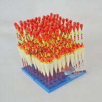 木质芦苇浮漂传统钓手竿矶竿漂发光棒漂钓鱼线组配件渔具 10支