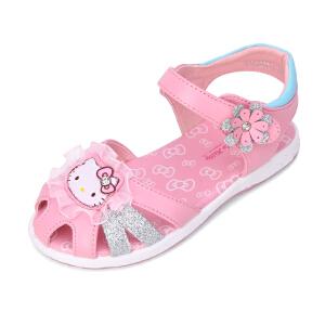 Hello Kitty童鞋新款包头儿童凉鞋公主鞋小童女
