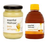 【网易考拉】【英国皇室 Waitrose】纯清澈蜂蜜+纯结晶蜂蜜 原生态养胃 百选精酿 滴滴晶纯