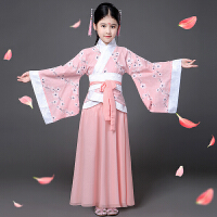儿童古装汉服女童秋冬古筝曲裾表演小孩仙女公主舞蹈朗诵演出服装