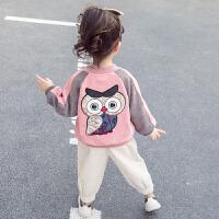 女童外套冬装女宝宝休闲夹克儿童童装棒球服