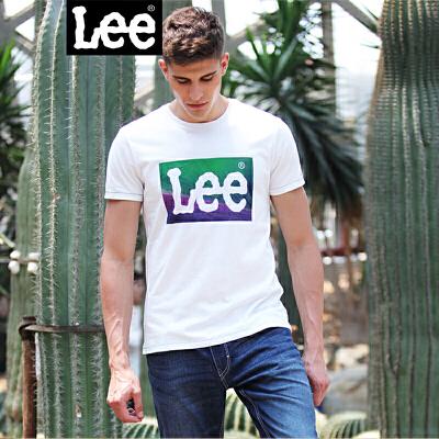 Lee男装 精玉透凉商场同款2018新品短袖印花T恤L249672KCK14