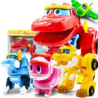 儿童变形机器人玩具棒棒霸王恐龙全套帮帮龙出动第三季韦斯洛奇