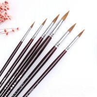 马蒂斯尼龙狼毫水彩水粉笔套装油画笔尖头圆头丙烯画笔6支装