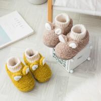 儿童棉拖鞋包跟男童秋冬1-3岁2女童家居室内毛毛鞋宝宝棉鞋婴幼儿