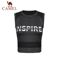 camel新款春夏瑜伽背心女运动跑步服健身服露脐上衣