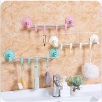 免钉门后挂钩卫生间无痕壁挂排钩浴室吸盘厨房墙壁挂钩