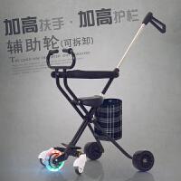 带娃遛娃溜娃婴儿童三轮车小孩手推车1-3-4-5-6岁轻便折叠 音乐款+伞 备注选颜色