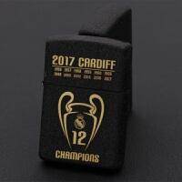 足球皇马欧冠12冠纪念足球球星C罗贝尔拉莫斯球迷煤油打火机皇马欧冠12冠礼品
