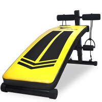 仰卧起坐健身器材 黄蜂仰卧板 多功能健腹机 稳定 舒适 仰卧起坐健身厂家批发直销 红色