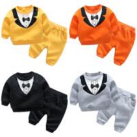 女婴儿衣服6个月宝宝长袖套装新生儿秋冬装套