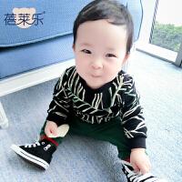 婴儿童装卫衣春季秋装女宝宝0岁6个月春秋款外出衣服潮款