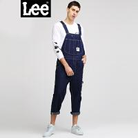 Lee男装 2018春夏新品商场同款Smiley V领背带牛仔裤L31802Y90898