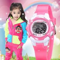 儿童手表男孩防水夜光小学生手表女孩韩版运动多功能电子表女童