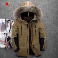 新款男士冬装户外羽绒服男短款外套加厚连帽休闲保暖滑雪防寒服