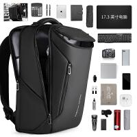 双肩包男士多功能定型17寸电脑包时尚潮流书包出差旅行背包大容量