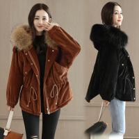 棉衣女短款冬装新款韩版宽松外套时尚潮流女装 A8013焦糖