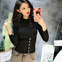 韩国秋冬打底毛衣女紧身显身材针织衫贴身超短高腰露肚脐长袖上衣