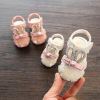 2018夏款女宝宝凉鞋公主小童包头凉鞋婴幼儿学步鞋女童鞋子