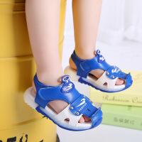 男童凉鞋夏季儿童鞋包头凉鞋沙滩鞋小童带闪灯批发一件品牌