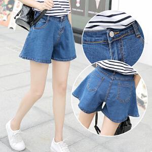 包臀宽松短裙裤显瘦性感学生大码韩版牛仔短裤女夏天