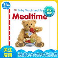 Baby touch and feel Mealtime 吃饭时间 英文原版进口儿童书 3-6岁英语互动趣味触摸书