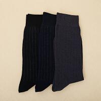 3双装英伦中筒袜皮鞋男袜黑色商务男士棉西装袜子 3双装