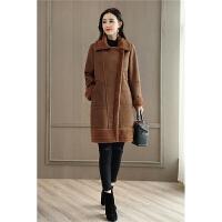 冬装新款毛呢大衣韩版女装中长款韩国呢子外套时尚潮流女装 HF480-1粉红色