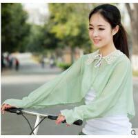 女时尚透气舒适韩版开车骑车防晒披肩披肩长袖电动车遮阳防晒