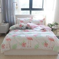 棉套件小清新单人床学生宿舍三件套1.8m棉四件套床上用品