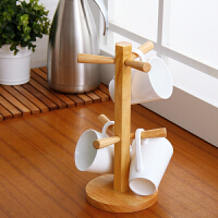 欧润哲 实木悬挂杯架 水杯茶杯架咖啡杯架子 桌面收纳置物架杯子沥水架