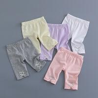 童装女宝宝打底裤0-1-2-3-4岁婴儿裤子七分裤婴幼儿夏装