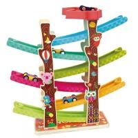 儿童玩具 滑翔轨道车玩具惯性小汽车男孩儿童礼盒装生日礼物 纽奇滑道车6层