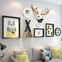 沙发背景墙装饰画组合餐厅墙面壁画客厅挂画北欧风格现代简约墙画 适合3.5-5米墙面 30mm厚板 拼套