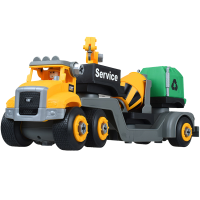 螺母拼装工程车套装DIY男孩塑料玩具车