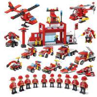 兼容乐高积木军事城市拼装3-6周岁10-12岁男孩子警察消防儿童玩具